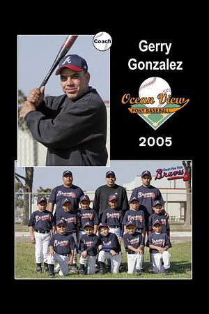 Coach Gerry Gonzalez, Braves, Pinto Division, 2005 Ocean View Pony Baseball
