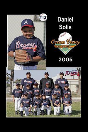 #12 Daniel Solis, Pinto Division, 2005 Ocean View Pony Baseball