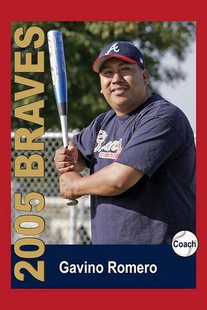 Coach Gavino Romero, Braves, 2005 Ocean View Pony Baseball, Pinto Division