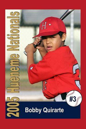 #03 Bobby Quirarte, Hueneme Nationals, Pinto Division, 2005 Ocean View Pony Baseball