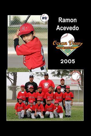 #09 Ramon Acevedo, Hueneme Nationals, Pinto Division, 2005 Ocean View Pony Baseball
