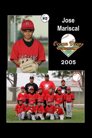 #02 Jose Mariscal, Hueneme Nationals, Pinto Division, 2005 Ocean View Pony Baseball