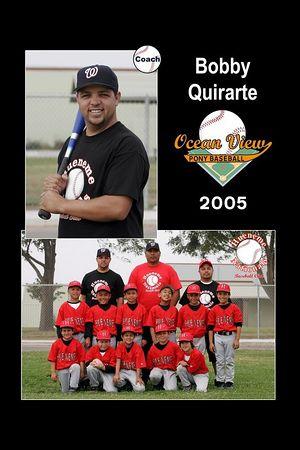 Coach Bobby Quirarte, Hueneme Nationals, Pinto Division, 2005 Ocean View Pony Baseball