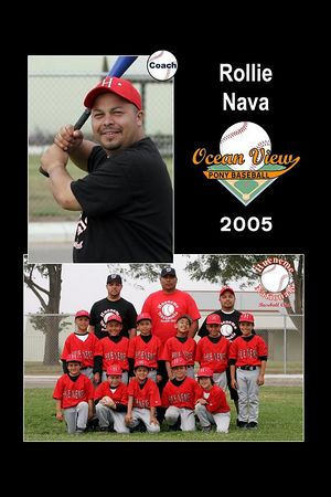 Coach Rollie Nava, Hueneme Nationals, Pinto Division, 2005 Ocean View Pony Baseball