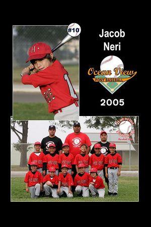 #10 Jacob Neri, Hueneme Nationals, Pinto Division, 2005 Ocean View Pony Baseball