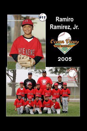 #11 Ramiro Ramirez, Jr., Hueneme Nationals, Pinto Division, 2005 Ocean View Pony Baseball