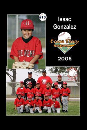 #15 Isaac Gonzalez, Hueneme Nationals, Pinto Division, 2005 Ocean View Pony Baseball