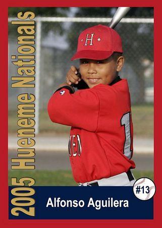 #13 Alfonso Aguilera, Hueneme Nationals, Pinto Division, 2005 Ocean View Pony Baseball