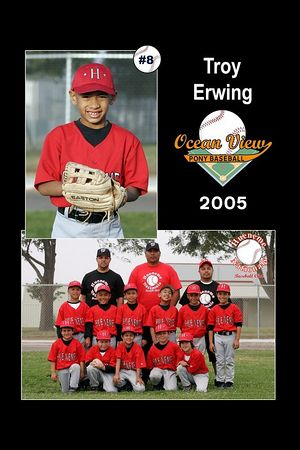#08 Troy Erwing, Hueneme Nationals, Pinto Division, 2005 Ocean View Pony Baseball