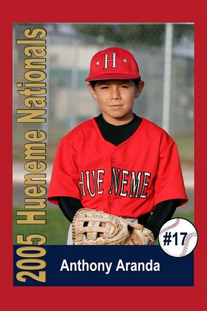#17 Anthony Aranda, Hueneme Nationals, Pinto Division, 2005 Ocean View Pony Baseball