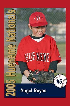#05 Angel Reyes, Hueneme Nationals, Pinto Division, 2005 Ocean View Pony Baseball