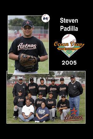 #04 Steven Padilla, Astros, 2005 Ocean View Pony Baseball, Pony Division