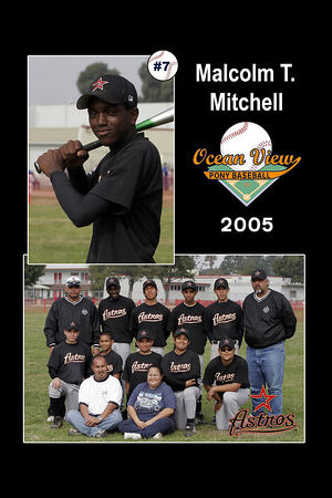 #07 Malcolm T. Mitchell, Astros, 2005 Ocean View Pony Baseball, Pony Division