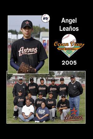#09 Angel Leaños, Astros, 2005 Ocean View Pony Baseball, Pony Division