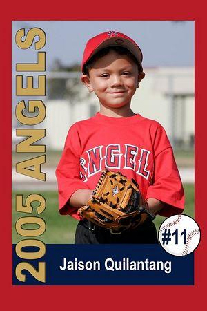 #11 Jaison Quilantang, Ocean View Pony Baseball, 2005 Shetland Angels