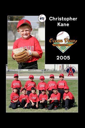 #05 Christopher Kane, Ocean View Pony Baseball, 2005 Shetland Angels