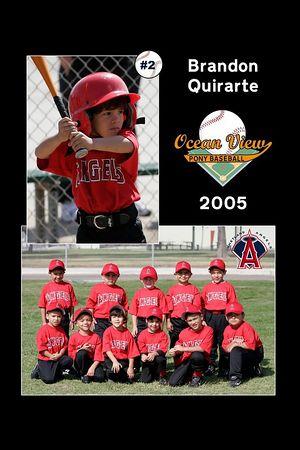#02 Brandon Quirarte, Ocean View Pony Baseball, 2005 Shetland Angels