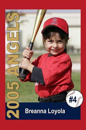 #04 Breanna Loyola, Ocean View Pony Baseball, 2005 Shetland Angels