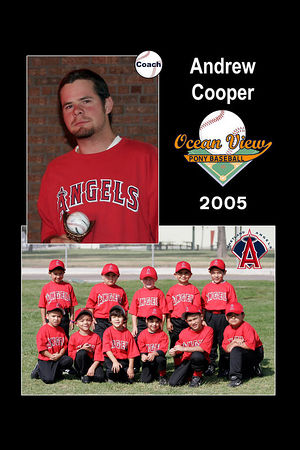 Coach Andrew Cooper, Ocean View Pony Baseball, 2005 Shetland Angels