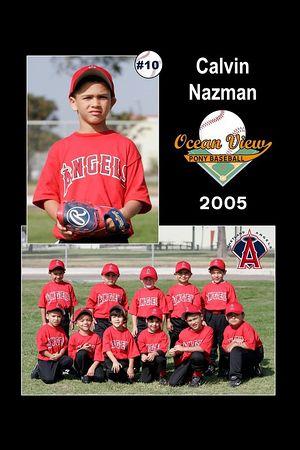 #10 Calvin Nazman, Ocean View Pony Baseball, 2005 Shetland Angels