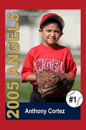 #01 Anthony Cortez, Ocean View Pony Baseball, 2005 Shetland Angels