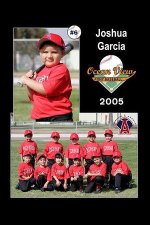 #06 Joshua Garcia, Ocean View Pony Baseball, 2005 Shetland Angels