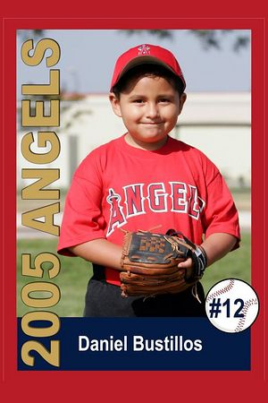 #12 Daniel Bustillos, Ocean View Pony Baseball, 2005 Shetland Angels