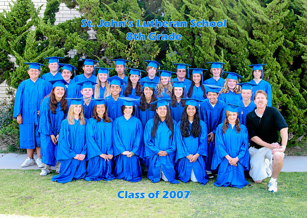 8th grade graduates of St. John's Lutheran School. (Image taken with Canon EOS 20D at ISO 200, f4.0, 1/125 sec and 25mm)