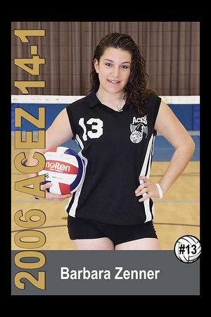Barbara Zenner, 2006 ACEZ 14-1 Volleyball