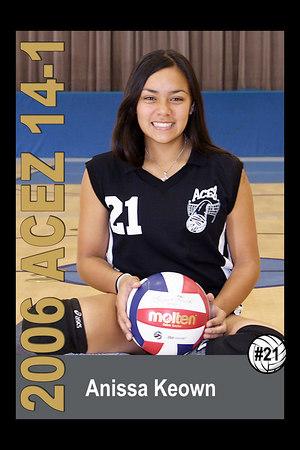 Anissa Keown, 2006 ACEZ 14-1 Volleyball
