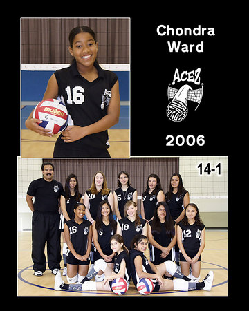 Chondra Ward, 2006 ACEZ 14-1 Volleyball