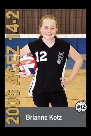 #12 Brianne Kotz, 2006 ACEZ 14-2 Volleyball