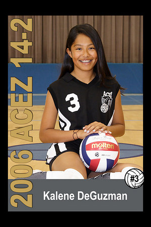 #03 Kalene DeGuzman, 2006 ACEZ 14-2 Volleyball