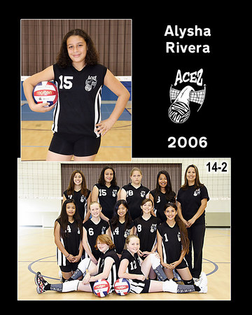 #15 Alysha Rivera, 2006 ACEZ 14-2 Volleyball
