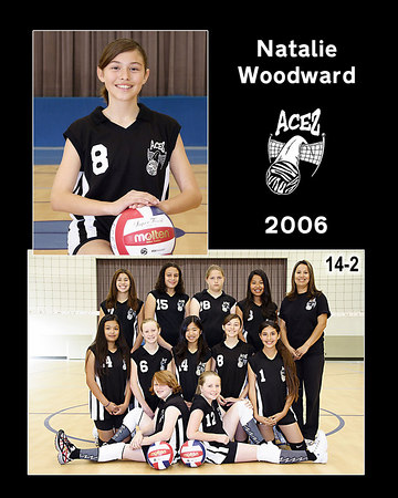 #08 Natalie Woodward, 2006 ACEZ 14-2 Volleyball