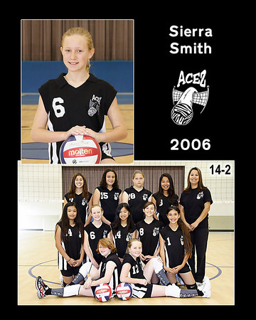 #06 Sierra Smith, 2006 ACEZ 14-2 Volleyball