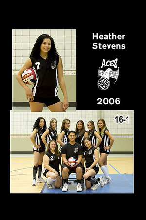 #07 Heather Stevens, 2006 ACEZ 16-1 Volleyball