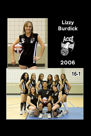 #05 Lizzy Burdick, 2006 ACEZ 16-1 Volleyball
