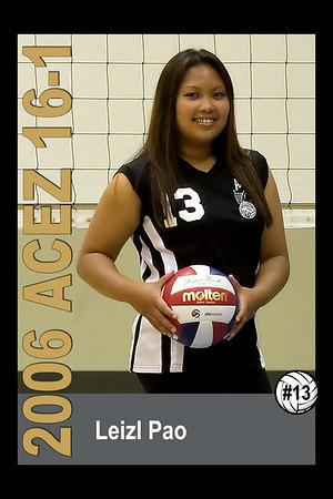 #13 Leizl Pao, 2006 ACEZ 16-1 Volleyball