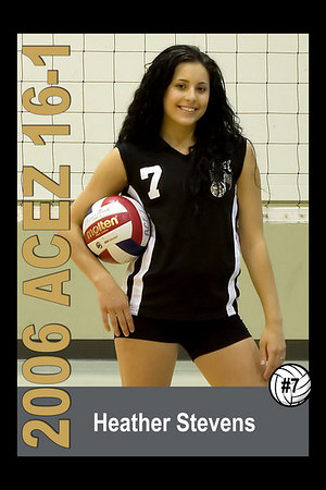 #07 Heather Stevens, 2006 ACEZ 16-1 Volleyball
