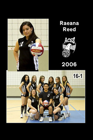 #11 Raeana Reed, 2006 ACEZ 16-1 Volleyball