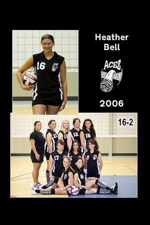 #16 Heather Bell, 2006 ACEZ 16-2 Volleyball