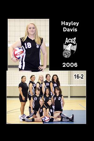 #18 Hayley Davis, 2006 ACEZ 16-2 Volleyball