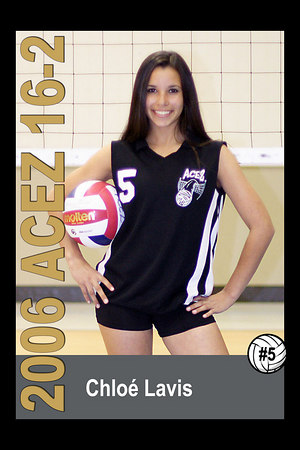 #05 Chloé Lavis, 2006 ACEZ 16-2 Volleyball
