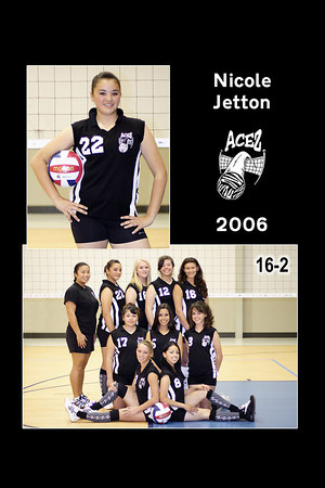 #22 Nicole Jetton, 2006 ACEZ 16-2 Volleyball