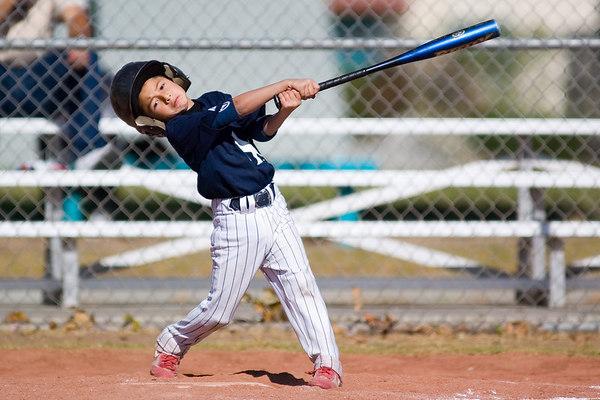 #05 Nick Arroyo at bat. Pinto North Side Yankees vs. Angels, 2006 Ocean View Pony Baseball, Pinto Division.