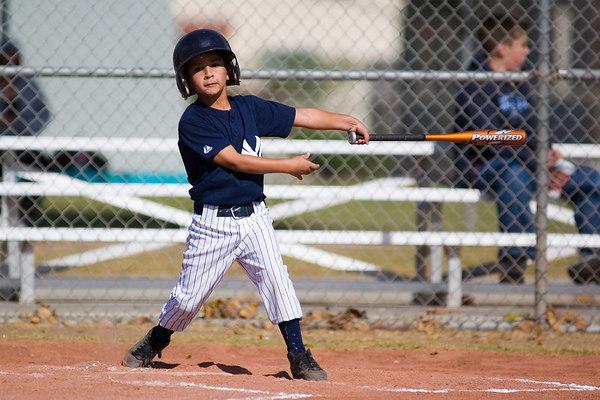 #09 Jason Herrera at bat. Pinto North Side Yankees vs. Angels, 2006 Ocean View Pony Baseball, Pinto Division.
