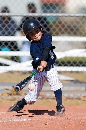#11 James Torres at bat. Pinto North Side Yankees vs. Angels, 2006 Ocean View Pony Baseball, Pinto Division.