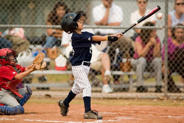 #10 Alec Hunter at bat. Pinto North Side Yankees vs. Angels, 2006 Ocean View Pony Baseball, Pinto Division.
