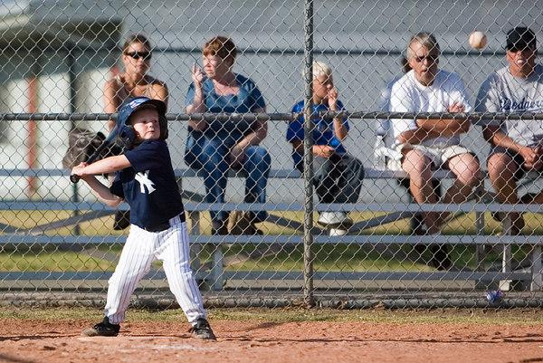#01 Christopher Kane at bat. Pinto North Side Yankees vs. Tigers, 2006 Ocean View Pony Baseball, Pinto Division.